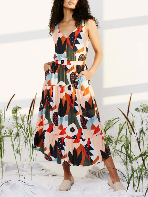 Good Classic Cami and Bask Skirt Tropical Collage 1