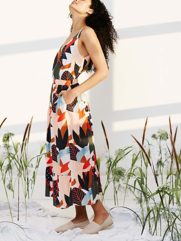 Good Classic Cami and Bask Skirt Tropical Collage 2