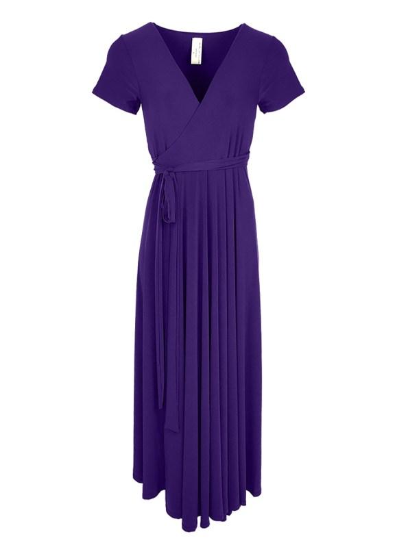 Isabel de Villiers Summer Maxi Wrap Dress Purple