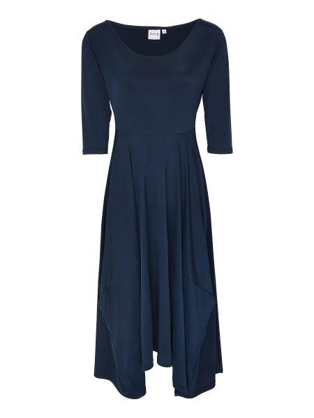 navy handkerchief dress