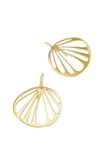gold circular earrings Kirsten Goss