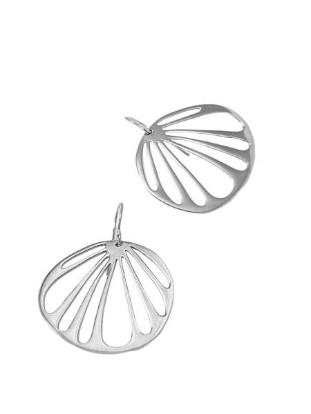 silver circular earrings