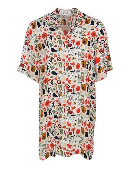 Multi-coloured button down shirt