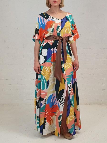print maxi dress floral