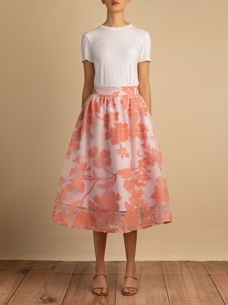 pink party skirt chiffon