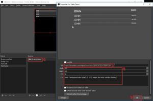 Example of Stream Alerts from Twitch - how to use OBS Software - Adding Widget URL