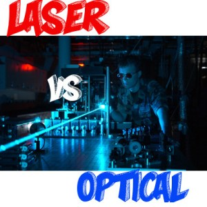 Example of Optical vs Laser Mouse - Logo