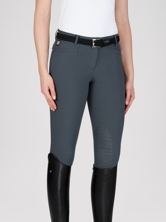 ASH Women's Riding Breeches with X-Grip Knee Patch in grey