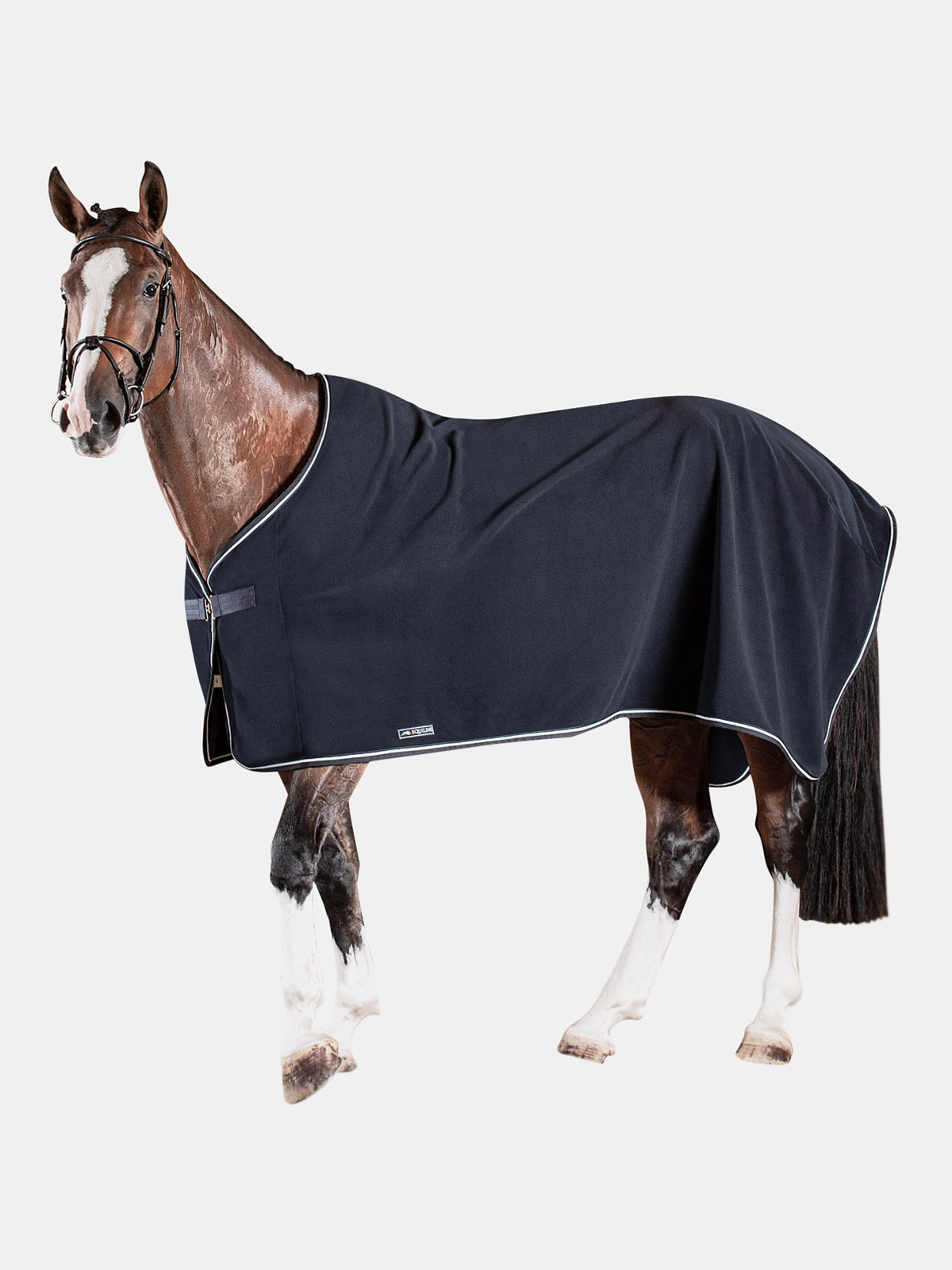 EQUILINE leeds polar fleece horse cooler in blue