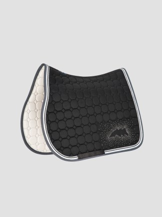 Equiline Joyce saddle pad with crystal studs in logo in black jumping size