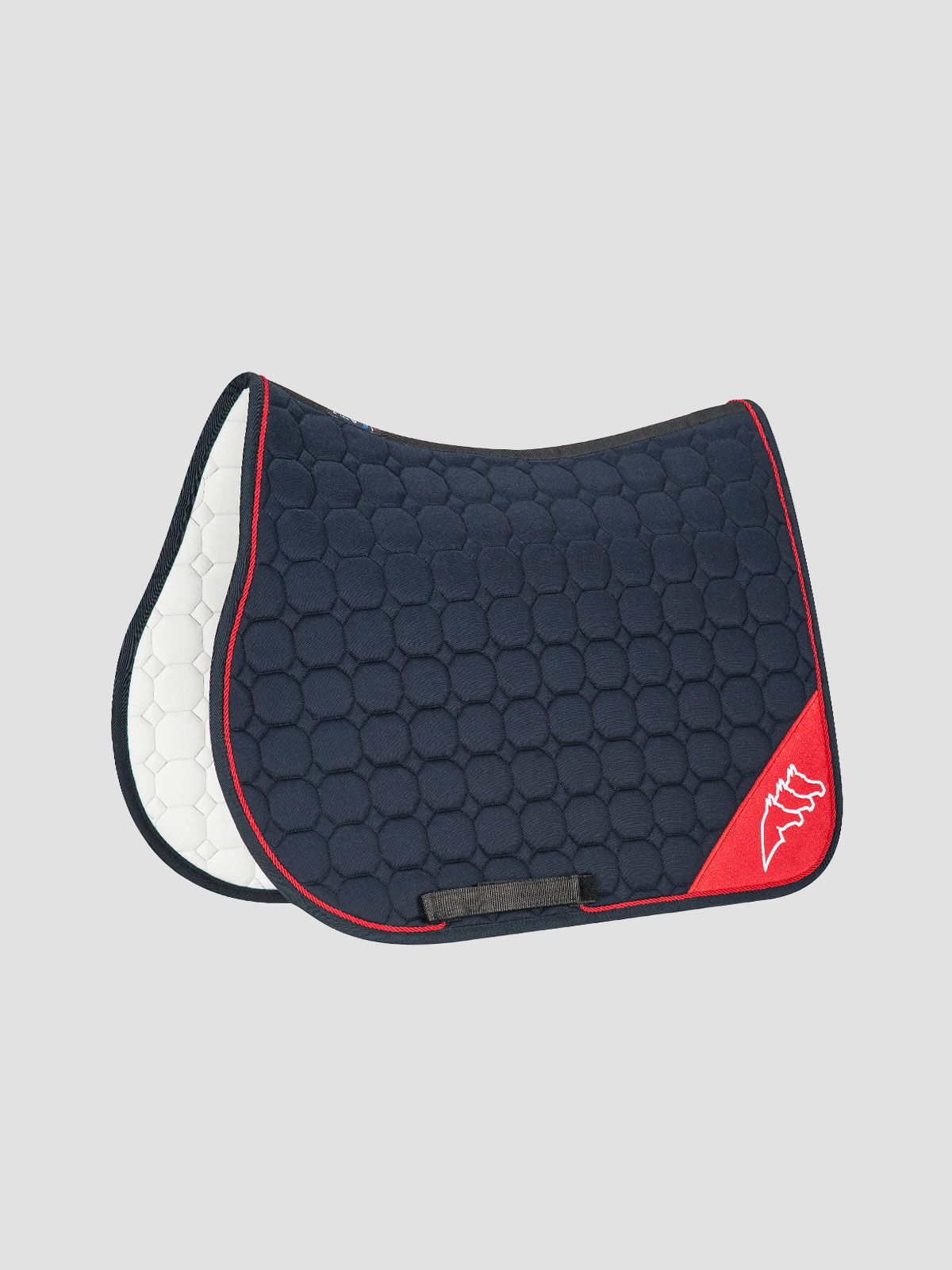 NADIR - Octagon Saddle Pad with Contrast Equiline Logo 1