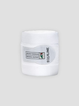 Equiline Work fleece and elastic wraps in white
