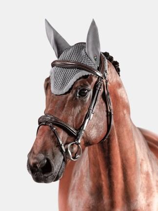 Equiline KIM ear bonnet in grey