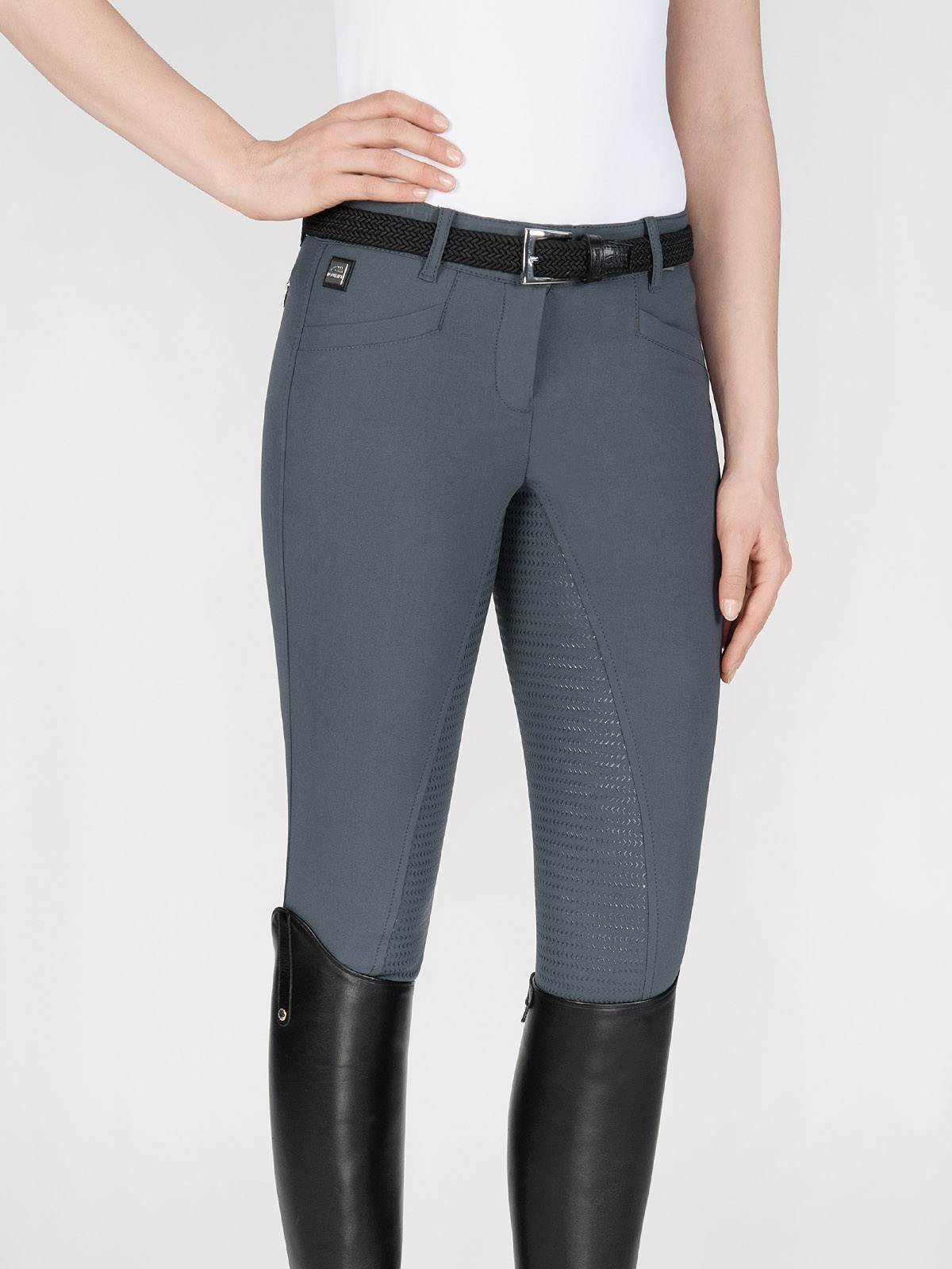 CEDAR women's riding breeches with full seat Grip in Grey