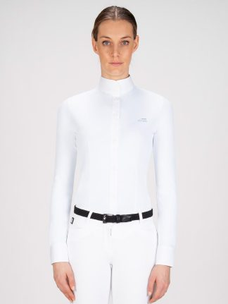 Equiline white women's long sleeve show shirt victoria