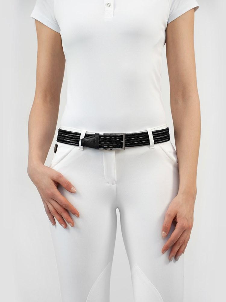 LOGAN - Elastic Unisex Belt in Leather 2