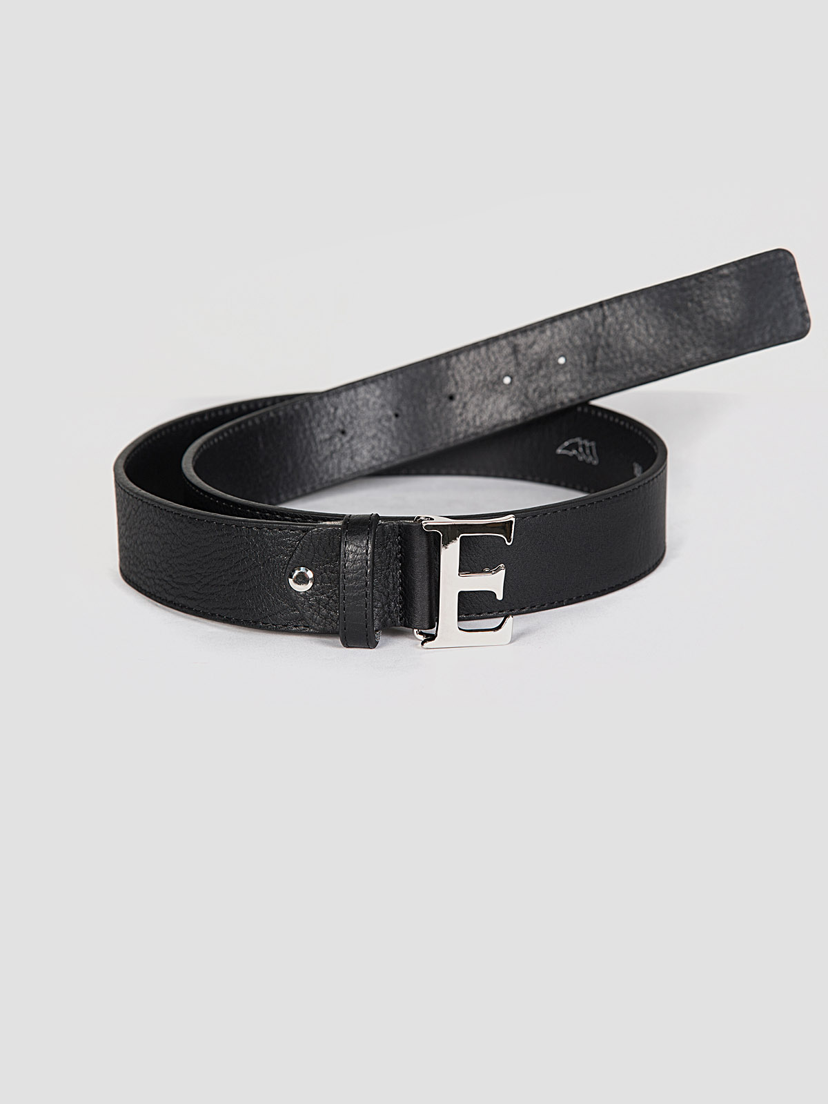 Equiline Betta leather belt in black