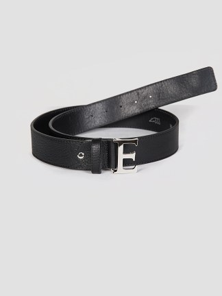 Equiline Betta leather belt in black
