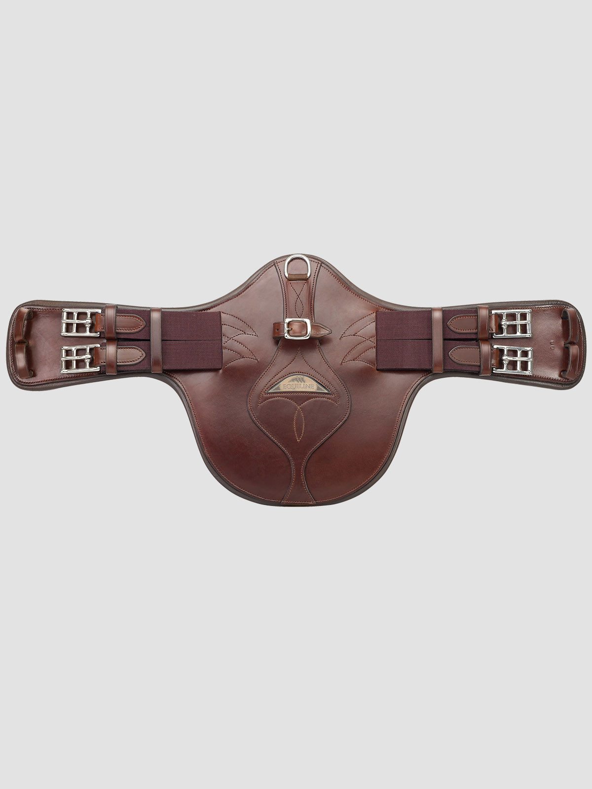 Brown equiline monoflap belly guard girth