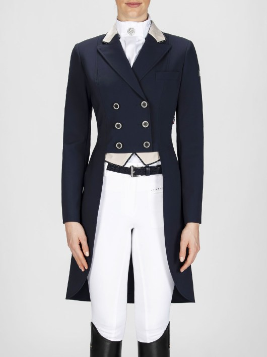 Cadence women's dressage tailcoat in blue