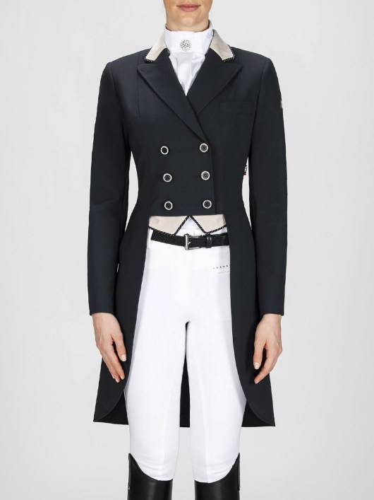 Cadence women's dressage tailcoat in black