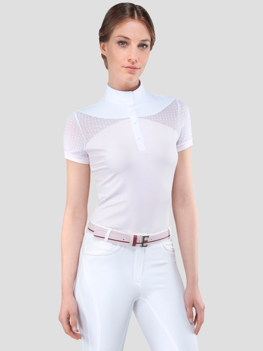 EDEN WOMEN'S SHOW SHIRT WITH DOTS TRANSPARENCY 3