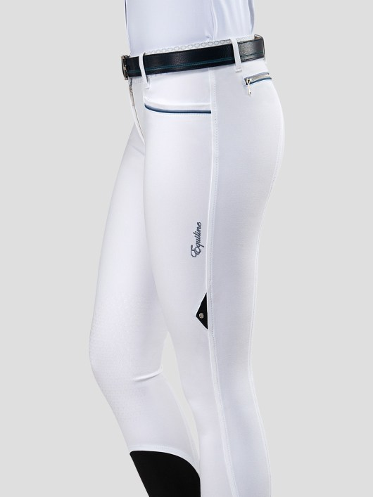 ESMERALDA WOMEN'S KNEE GRIP BREECHES WITH DOUBLE PIPING 7