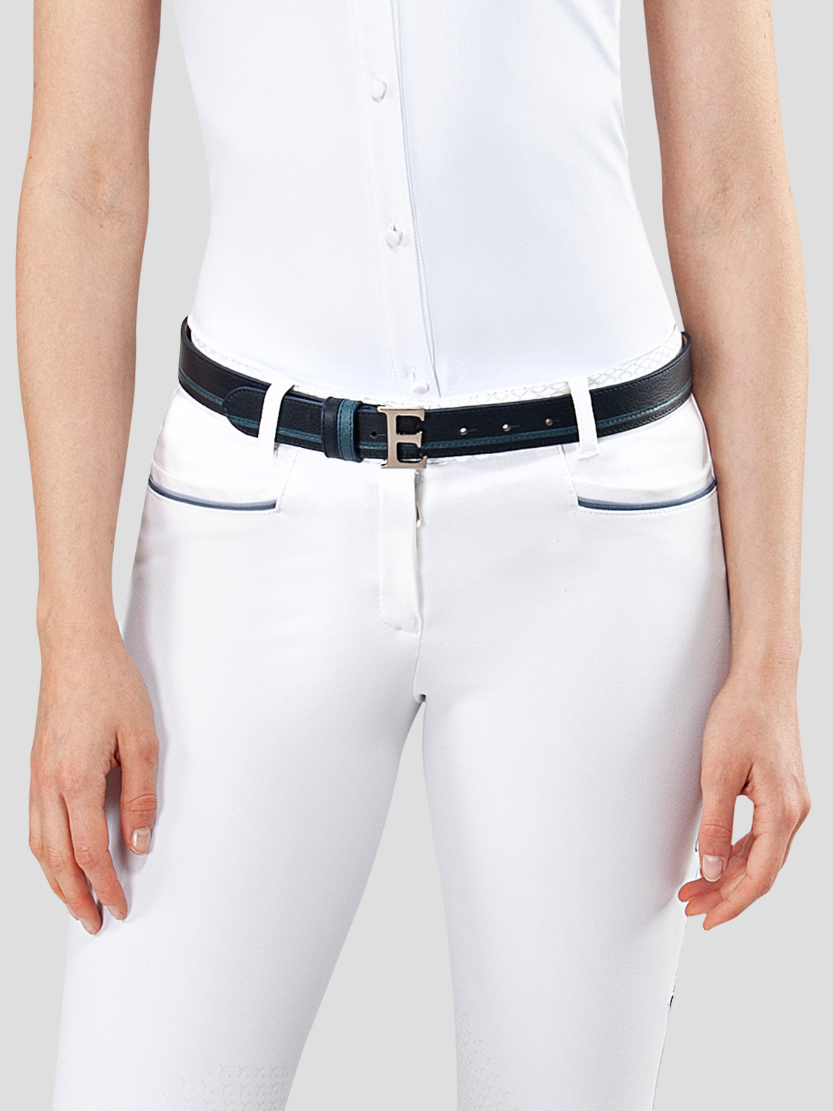 EROS LEATHER BELT WITH E BUCKLE 3