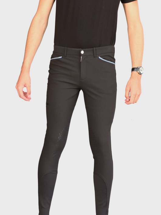EDUARDO MEN'S KNEE GRIP BREECHES IN BLACK 1