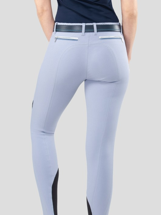 ESMERALDA WOMEN'S KNEE GRIP BREECHES WITH DOUBLE PIPING 3