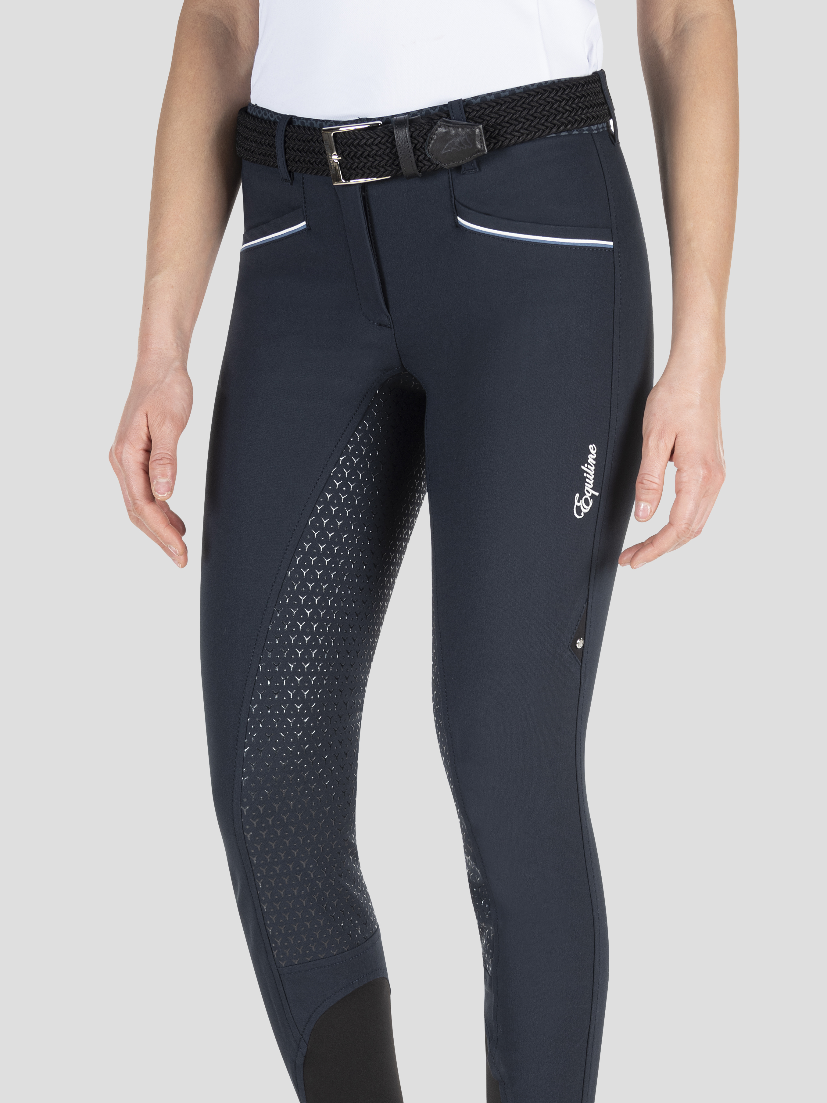 ESHA WOMEN'S FULL GRIP BREECHES WITH DOUBLE PIPING 1