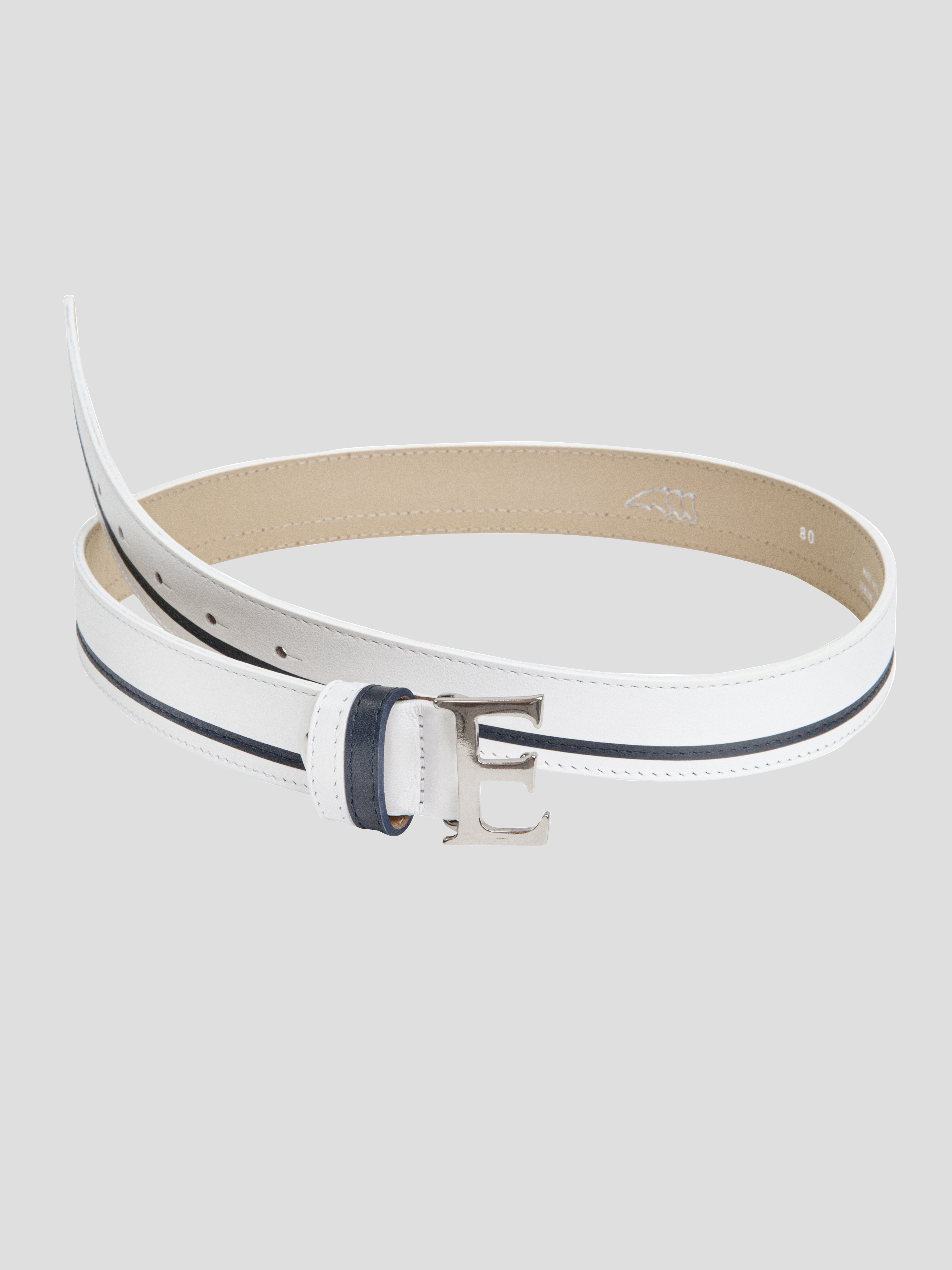EROS LEATHER BELT WITH E BUCKLE 1