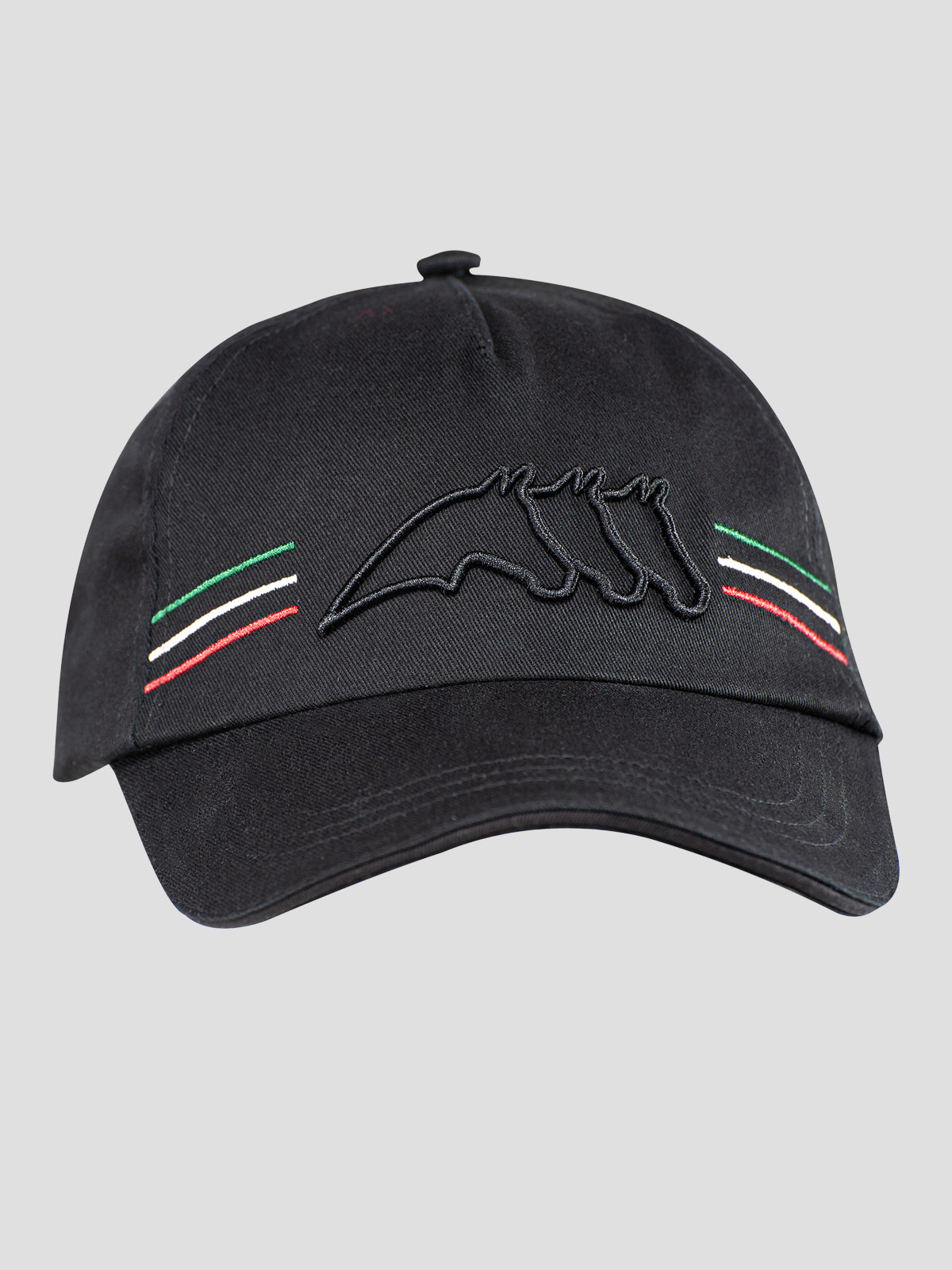 BALL CAP WITH OUTLINE LOGO AND ITALIAN-FLAG LINES 3