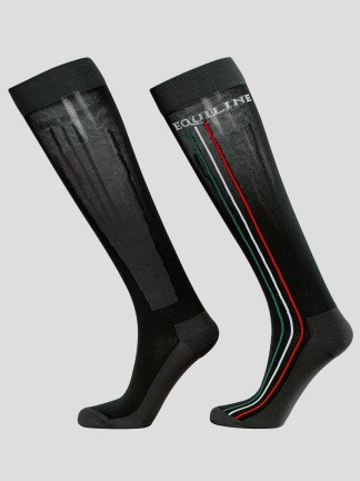 SOCKS WITH VERTICAL EQUILINE STRIPES