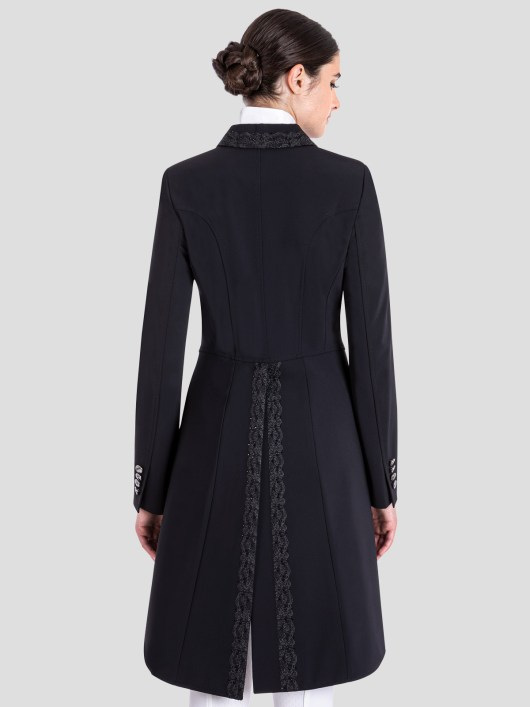 GREM WOMEN'S TAILCOAT WITH LACE EMBROIDERY DETAILS 2