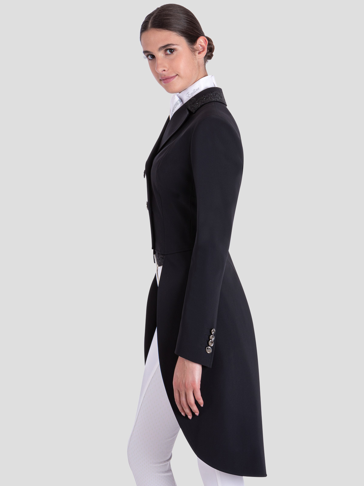 GREM WOMEN'S TAILCOAT WITH LACE EMBROIDERY DETAILS 3