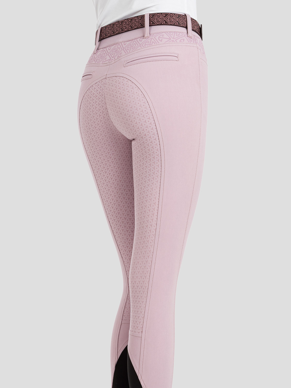 ESASHI WOMEN'S FULL SEAT GRIP BREECHES WITH LOGO PATTERN 3