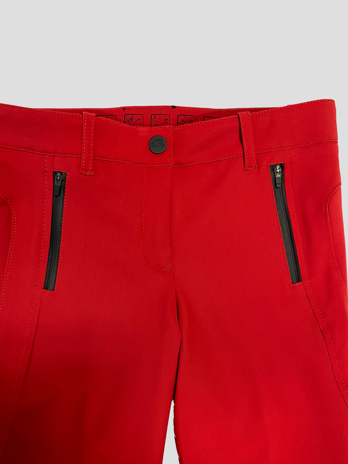 CHILLAN WOMEN'S FULL SEAT GRIP BREECHES IN RED 4