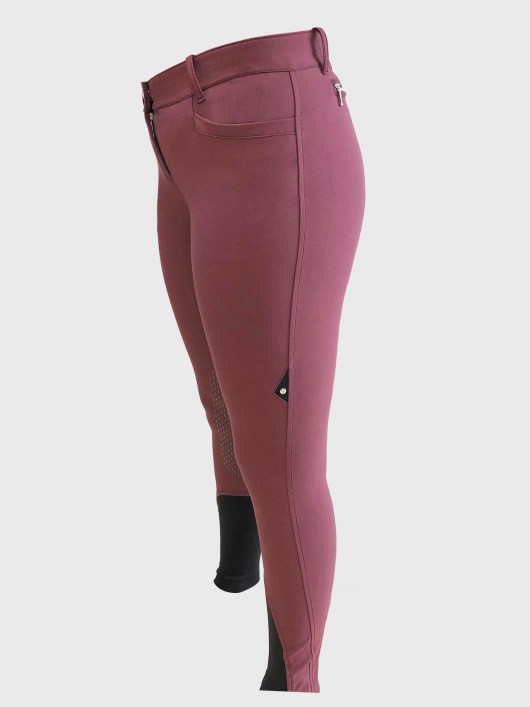 ASH Women's Riding Breeches with x-grip Knee Patch 3