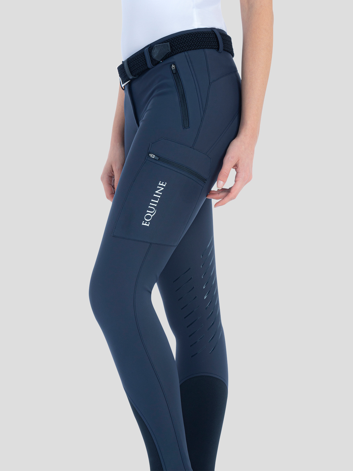 ChantalC Women's Cargo Breeches with Knee Grip in B-Move 1
