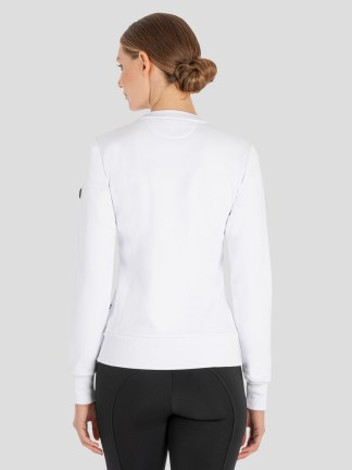 CarlaC Women's Crew with Embroidered Logo