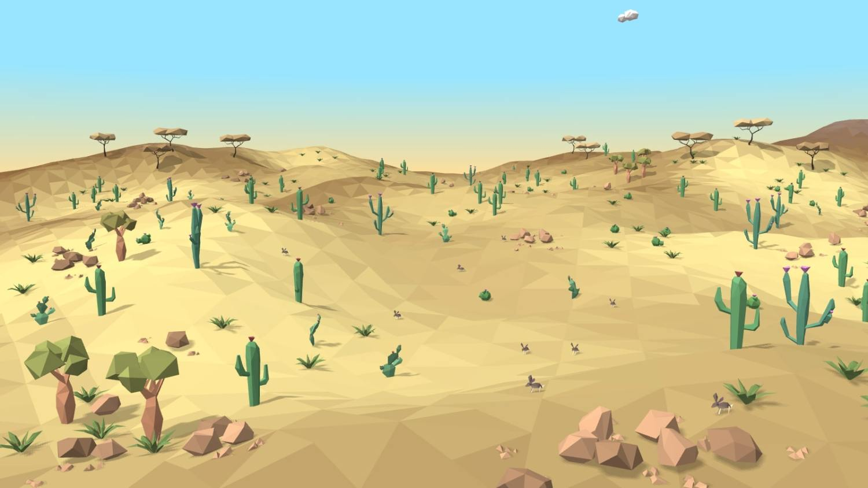 Desierto en low poly