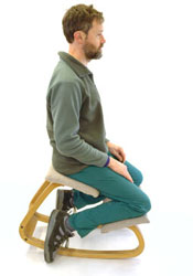 Envision yourself on one of the ergonomic kneeling chairs.