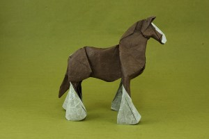 Clydesdale origami horse by Quentin Origami