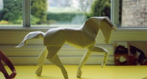 Origami horse by childofsai