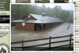 The Barn at GMHA During Irene