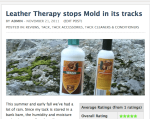 Leather Therapy products stop mold in its tracks