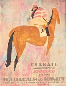 Vintage jockey print