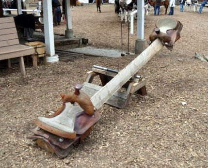 Seesaw with saddles