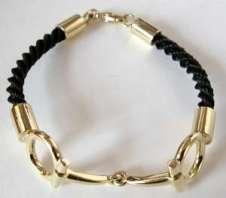 horsehair snaffle bracelet